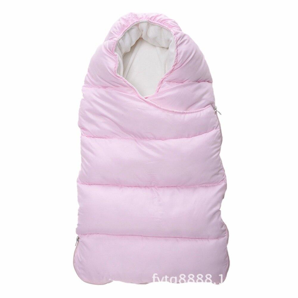 цена на Baby Down Feather Sleeping Bag Baby Autumn and Winter Plus Velvet Holder Baby Carrier Sleeping Bag AliExpress