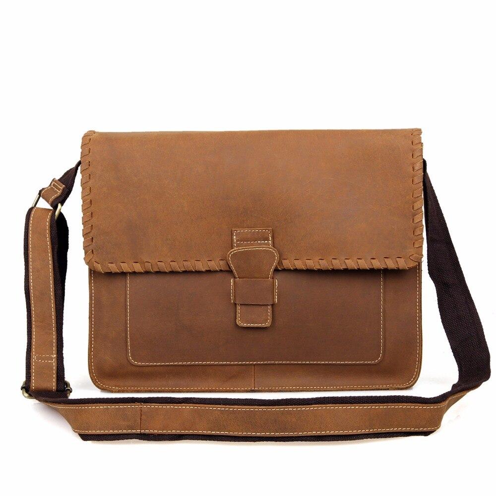 J.M.D J.M.D  Genuine Crazy Horse Leather Envelope Messenger Bag For Men Sling Bag Casual Women Sling Bag 1009B casual canvas satchel men sling bag