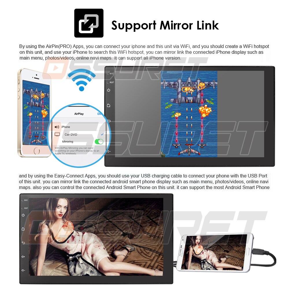 2 Din Android 8.1 universel voiture Audio stéréo Radio avec GPS WiFi GPS Navigation vidéo tête unité voiture multimédia lecteur Mic BT carte - 3