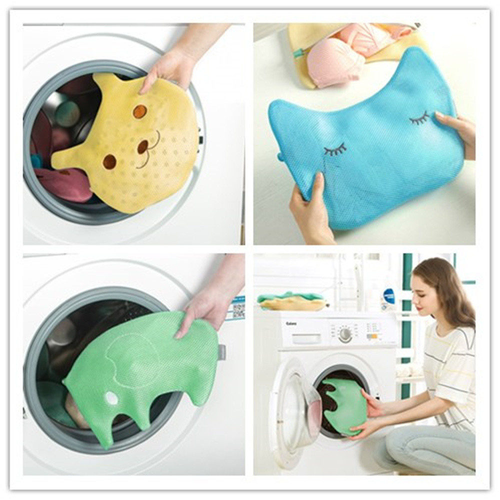 New Thicken Clothing Wash Bag Cartoon Drawstring Bra Underwear Laundry Bags Household Cleaning Wash Laundry Organizers 4.17