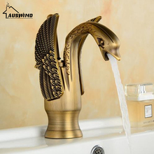 Antique Mixer Hot And Cold Water Kitchen Faucet Gold Brass Basin Faucet Deck Mouted Bathroom Hardware
