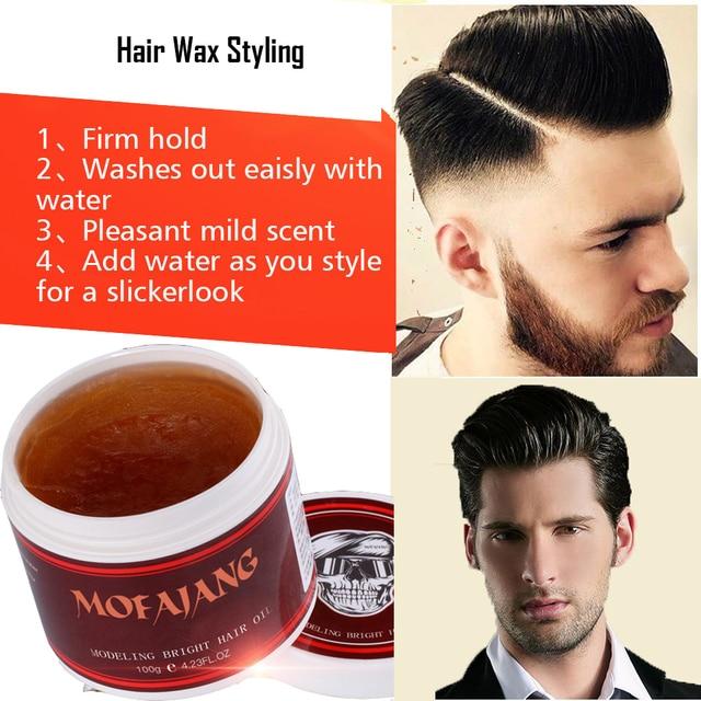 Mofajang 120g Hair Pomade Retro Hair Oil Strong Hair Wax Styling Gel