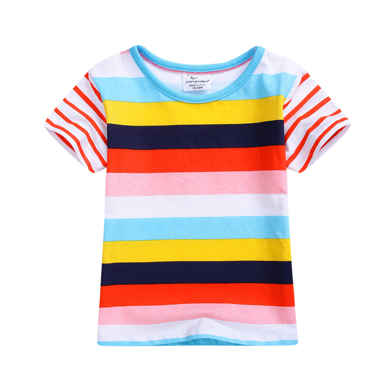 df9a1d7063 2017 Brand Boys Clothes Fashion Rainbow Boys Tops Kids Tops Designer  Toddler Baby Boys T Shirts