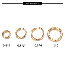 100pcs/lot 3-8mm Gold Plated Stainless Steel Jump Ring 100% Real Stainless Steel Lobster Clasp Wholesale Finding