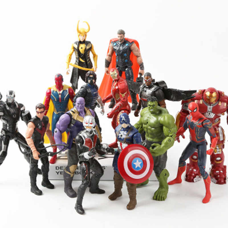 Marvel Avengers 3 infinity Film di guerra Anime Super Heros Captain America Ironman Spiderman hulk thor Supereroe Action Figure Giocattolo
