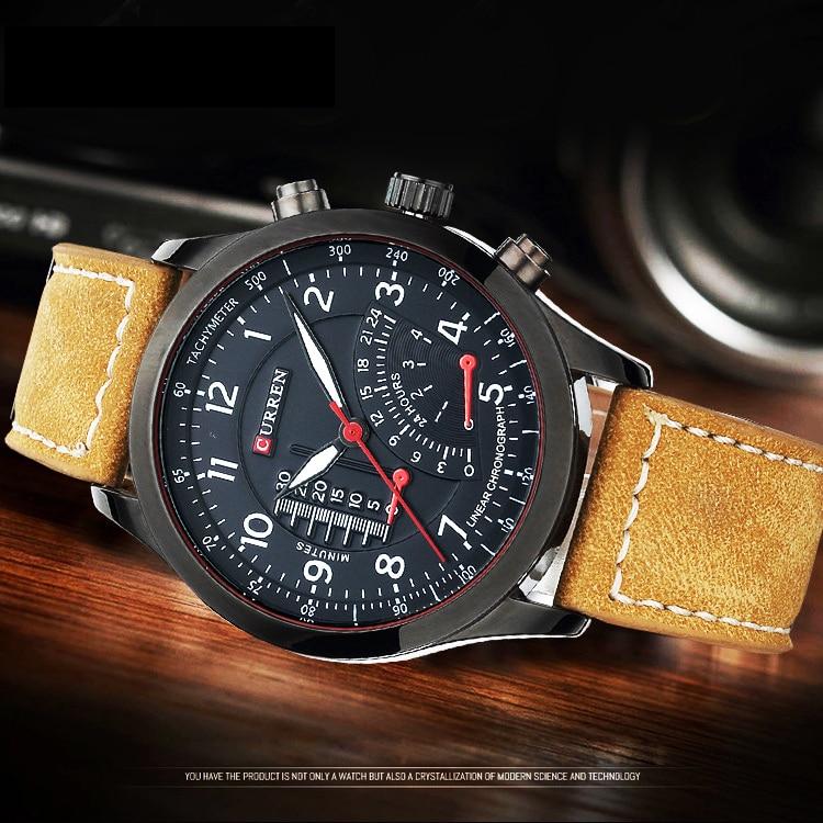 2016 Hot Curren Men Quartz Watches Military Army Vogue Quartz Men Sports Casual Watches Relogio Masculino Men Wristwatches