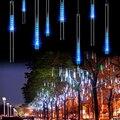 30 СМ 8 Трубки Rain Drop/Сосулька Падает Снег LED String хэллоуин рождественских дерево освещения украшение Каскадные Свет Декор ЕС Plug