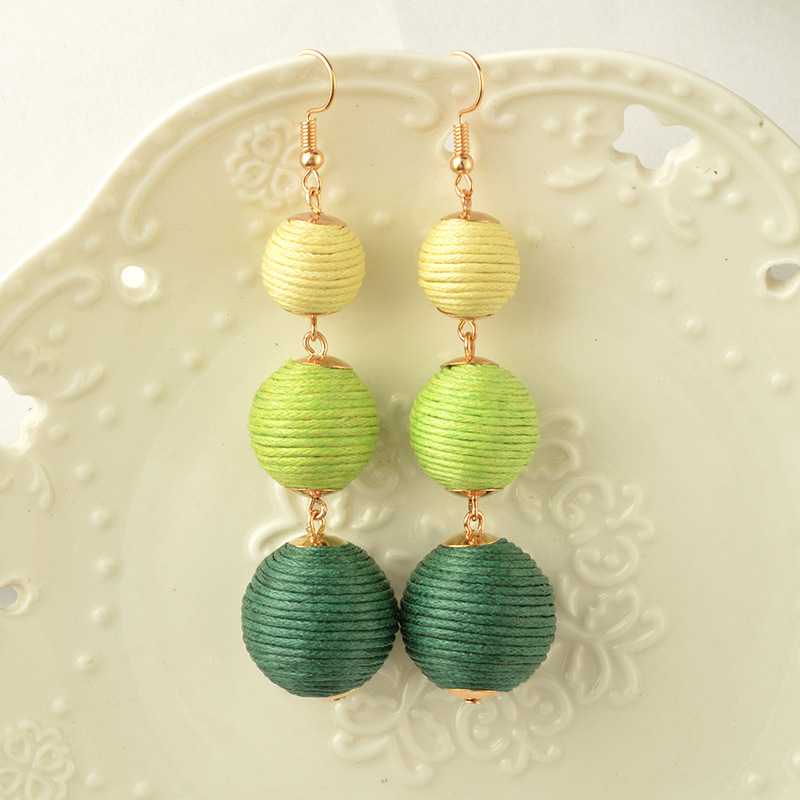 2020 Bohemian Big Statement Colorful Ball Drop Pendientes largos para - Bisutería - foto 4