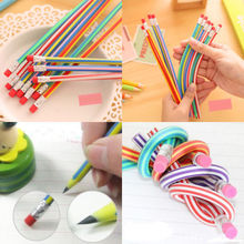 5pcs/Lot Special Offer Staedtler Prismacolor Colorful Magic Bendy Flexible Soft Pencil With Eraser For Kids Writing Gift K6173