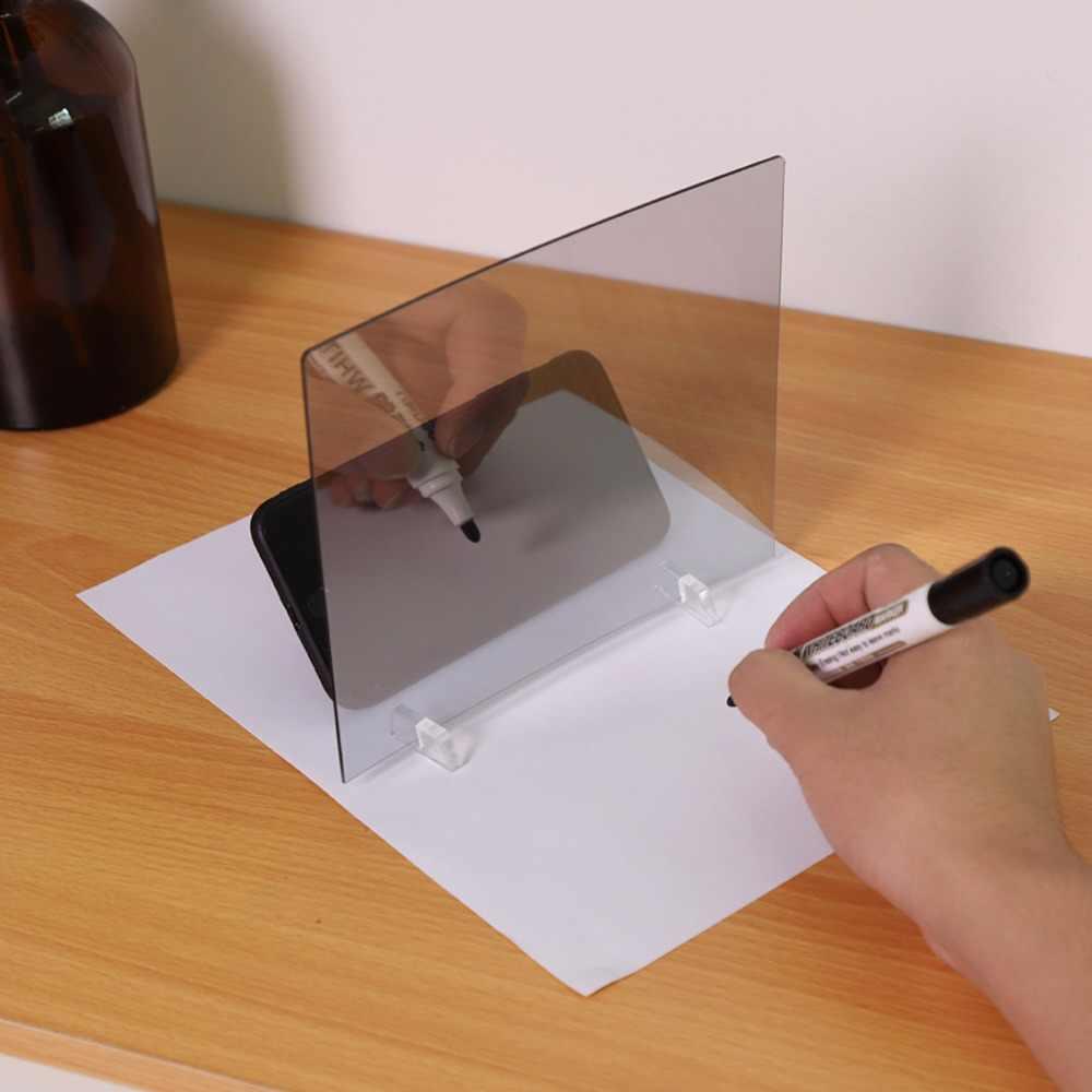 Светодиодный Трафарет световая панель-бокс Трассировка доска для рисования эскиз зеркало отражение телефон затемнение подставка держатель чертеж зеркальная доска