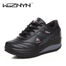 2020 التخسيس أحذية النساء موضة الجلود حذاء كاجوال المرأة سيدة سوينغ أحذية الربيع الخريف مصنع أحذية عالية الجودة
