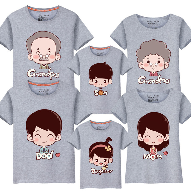 a0fde0ce87f5a US $7.13 49% OFF|Family Matching T Shirts Mama Baby summer mum and me  grandparents mother and daughter Clothes Family Look Outfits Short  sleeve-in ...