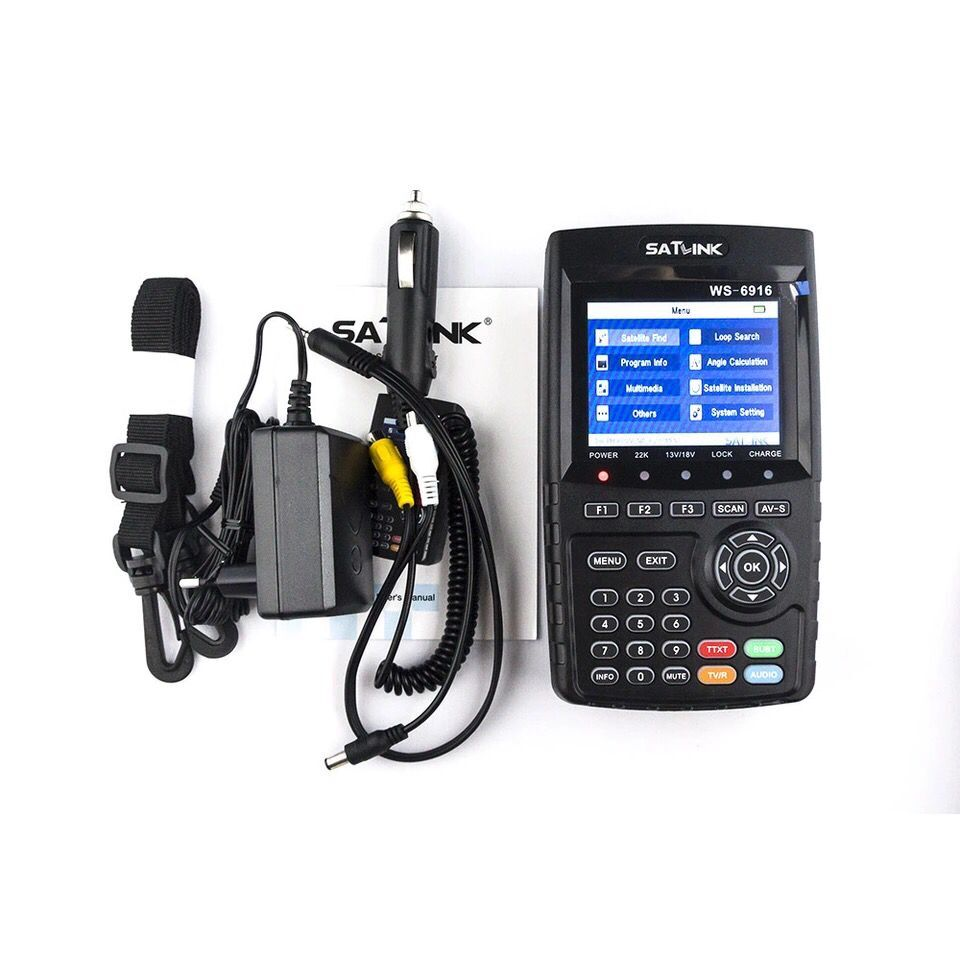 Satlink WS-6916 DVB-S/S2 HD Satellite Finder with MPEG-2/MPEG-4 Meter satlink ws 6979se satellite finder meter 4 3 inch display screen dvb s s2 dvb t2 mpeg4 hd combo ws6979 with big black bag