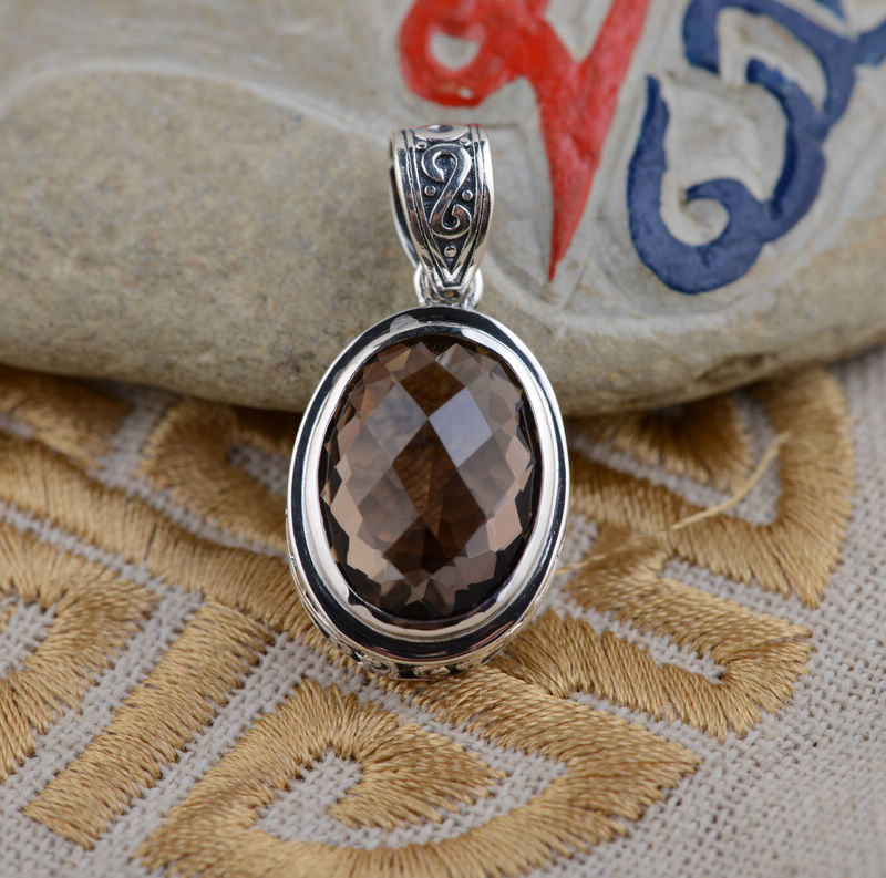 S925 wholesale sterling silver pendant antique style female oval S925 wholesale sterling silver pendant antique style female oval