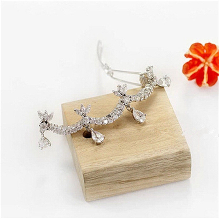 Brand New Big Sparkly White Hair Pin Women s Alloy Barrette Clip Crystal  Ponytail Barrette for Lady e986a17d8958