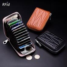 Кошелек для Карт rfid кошелек женщин визитница держатель кредитных