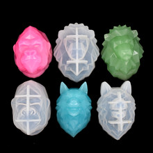 SNASAN Resin Silicone Mold 3D animal wolf lion Chimpanzee Crafts handmade DIY Jewelry Making epoxy resin molds Mould