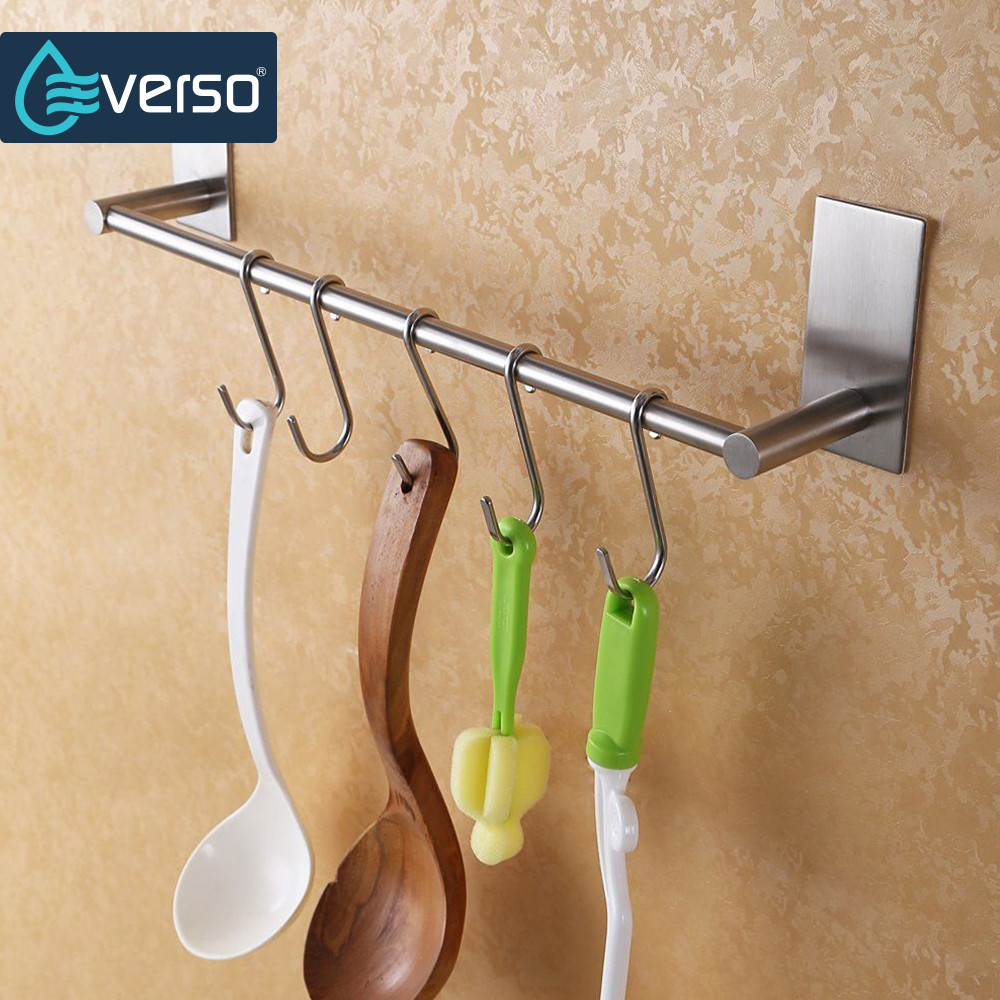 EVERSO Stainless Towel Rack Bathroom Towel Rail Towel Holder Stainless Steel Towel Bar ...