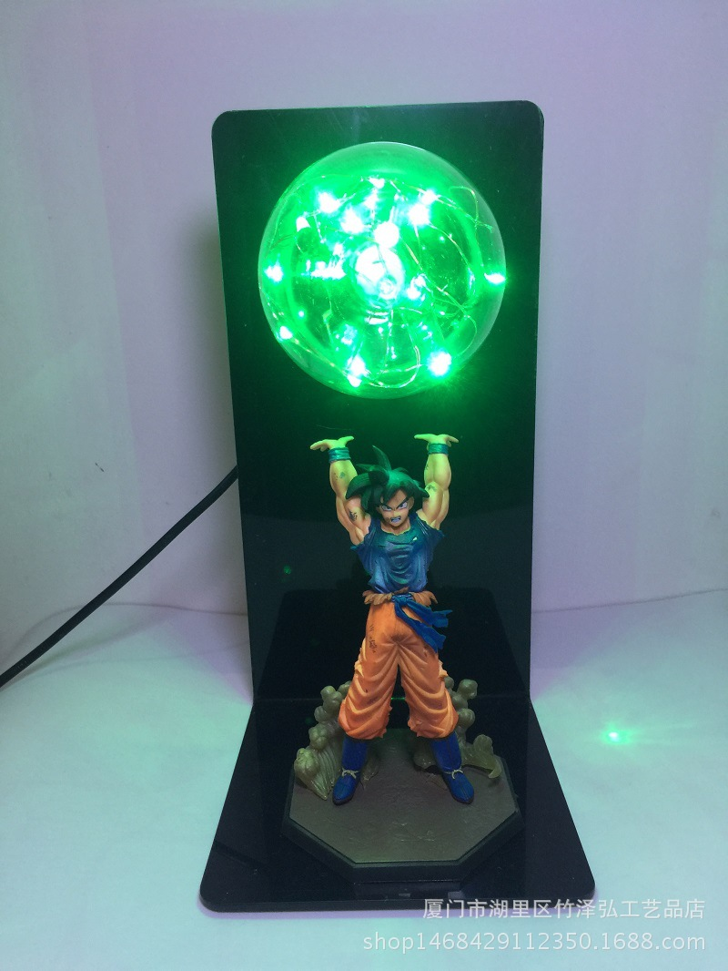 UK Anime Dragon Ball Z Lamp Son Goku Spirit Bomb Figure LED Light Lamp Xmas Gift