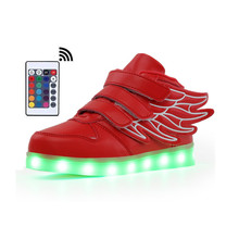 2019 New Toddler Fashion Led Kids Shoes With Remote Controller  Luminous Glowing Sneakers Flowers Baby Toddler Girls LED Shoes 2017 new fashion children shoes with light led kids shoes luminous glowing sneakers baby toddler boys girls shoes led eu 21 25