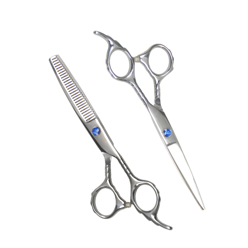 Newest 2016 6 0 INCH Professional Stainless Steel Hair Scissors Salon Cutting Thinning Hairdressing Shears Styling