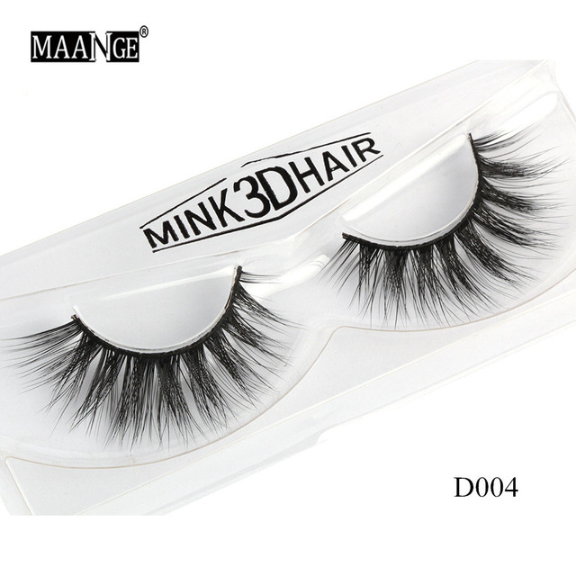 1 Pairs Mink Eyelashes Natural Long 3D Mink Lashes Hand Made False Eyelashes Full Strip Lashes Makeup False Eyelash Beauty Tool 3