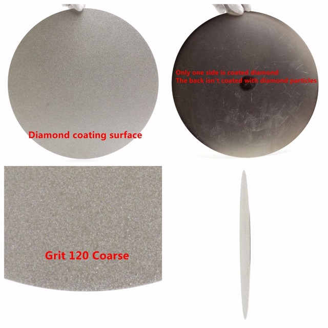 "NO CENTER HOLE 8"" inch Grit 80-1200 Diamond Grinding Disc Abrasive Wheels Coated Flat Lap Disk Jewelry Tools for Stone Gemstone"