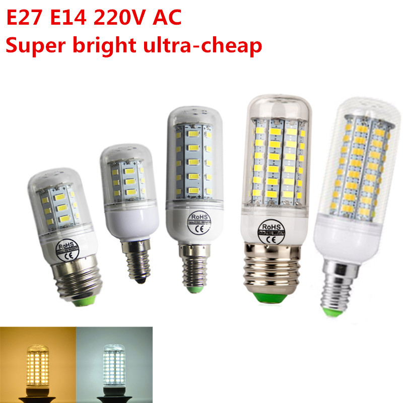 Super Bright Ultra Cheap Led Corn Lamp E27 Shell Candle Lights Smd5730 Equivalent To 7w 12w 15w