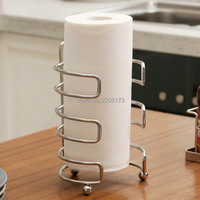 Smesiteli Wholesale European High Quality SUS304 Stainless Steel Paper Toilet Holder Kitchen Creative Paper Towel Rack