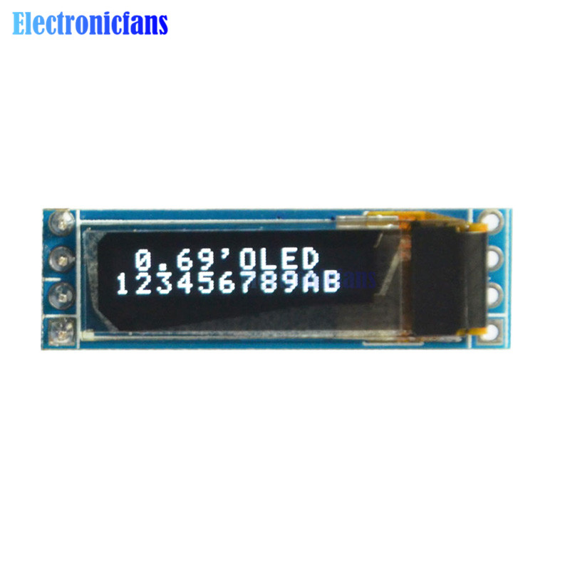 0.69 Inch 96x16 OLED Display Module White Display 0.69