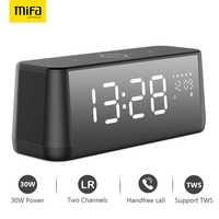 MIFA de A30 portátil inalámbrico de la visualización en pantalla completa Bluetooth altavoz potencia de 30 W OSD Touch Control de altavoces con reloj despertador