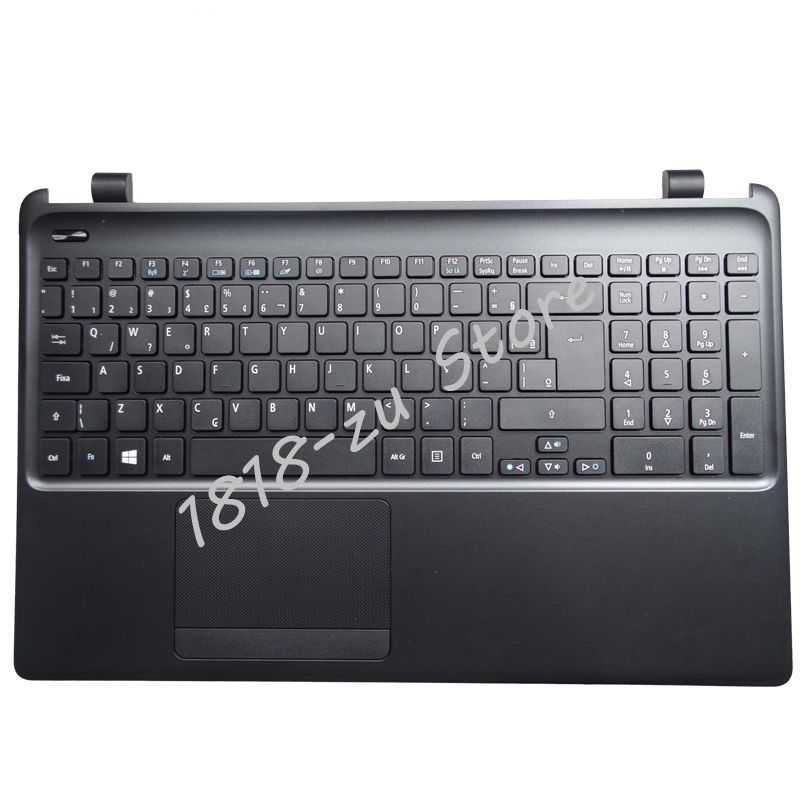 YALUZU new laptop keyboard with C shell for Acer E1-570G E1-572G E1-522 E1-572G E1-570 E1-510 Palmrest C Cover BLACK ap3902p e1 dip 8