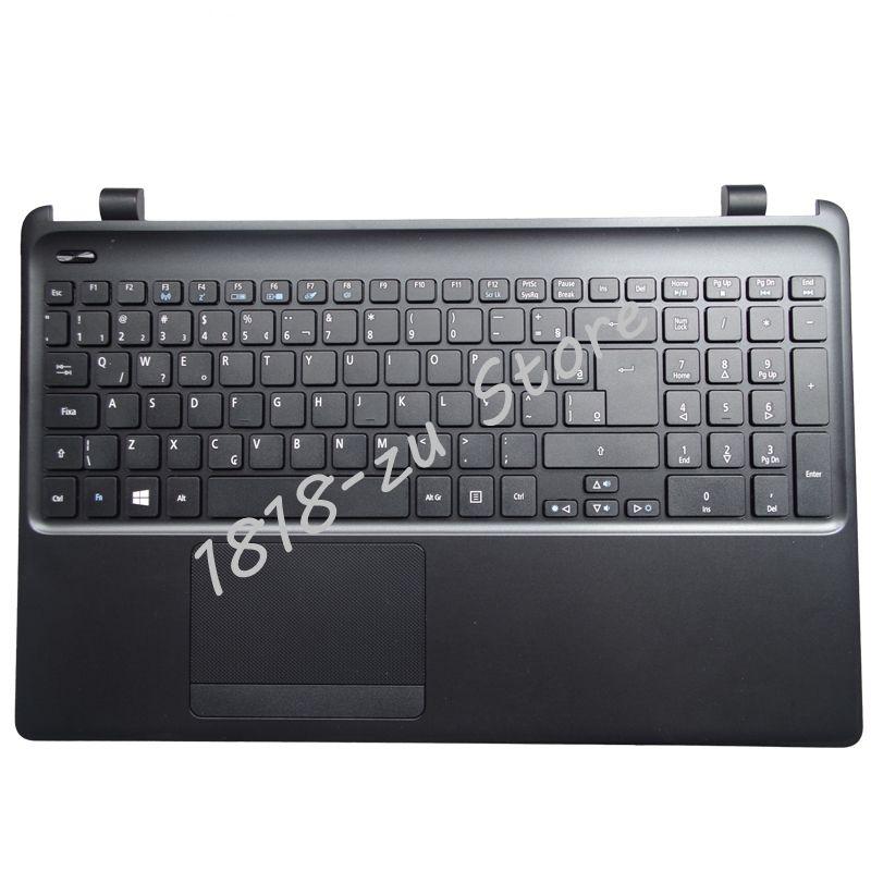 YALUZU nouvel ordinateur portable clavier avec C shell pour Acer E1-570G E1-572G E1-522 E1-572G E1-570 E1-510 Repose-poignets C Couvercle supérieur cas NOIR