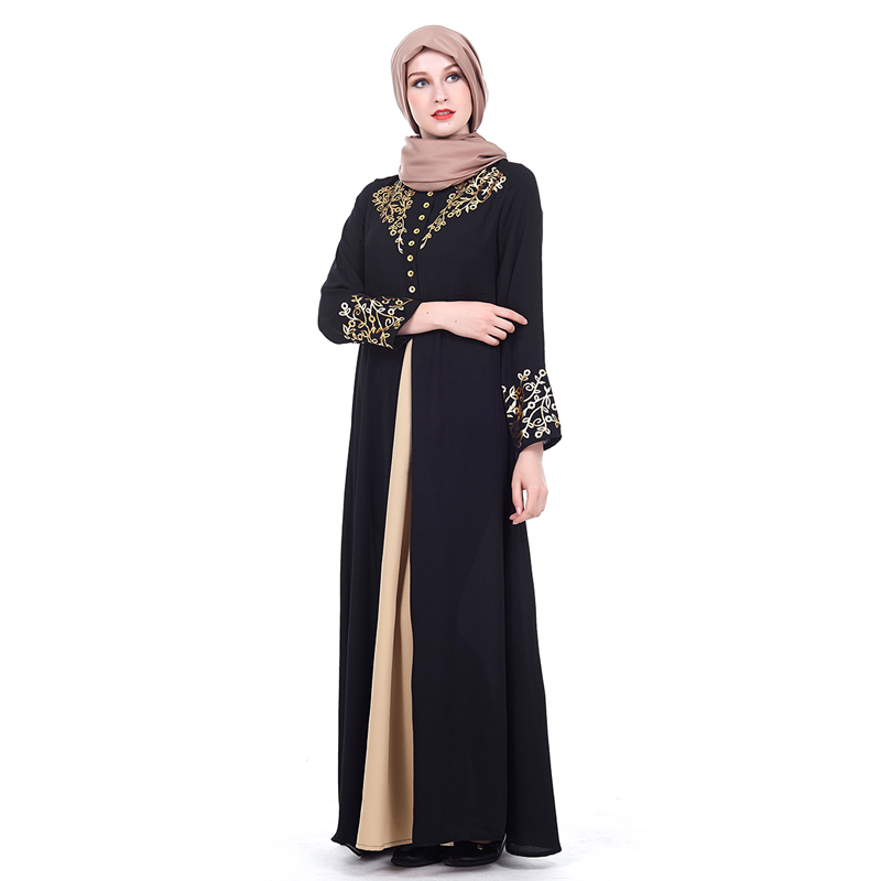 MISSJOY Dubai kaftan Dress Muslim Party Abaya Women Arabic Lace Cardigain Patchwork turkey Islam Prayer caftan marocain dresses 2