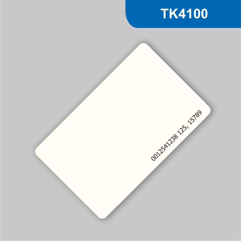 RFID Contactless Card Proximity ID Card RFID ISO PVC Card Time Attendance for access control 125KHz with TK4100 / EM4100 Chip waterproof contactless proximity tk4100 chip 125khz abs passive rfid waste bin worm tag for waste management