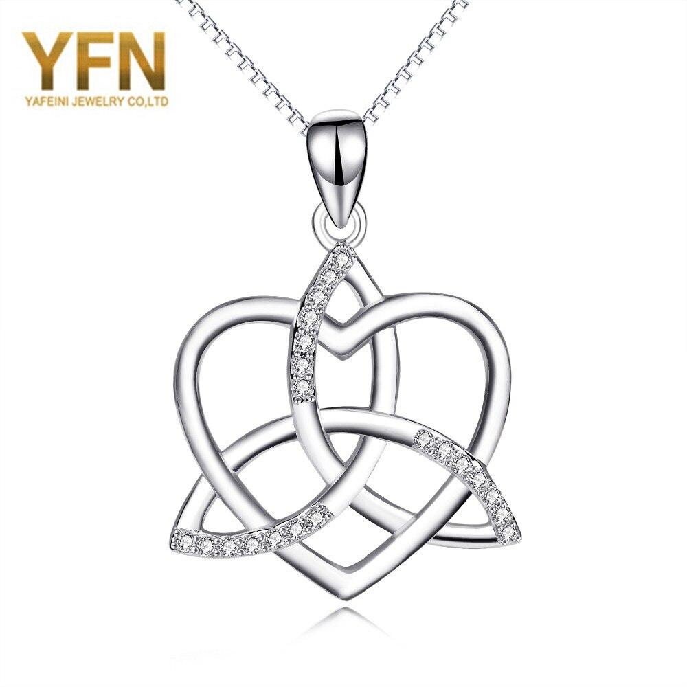 YFN Geniuses 925 Sterling Silver Crystal Celtic Knot Love