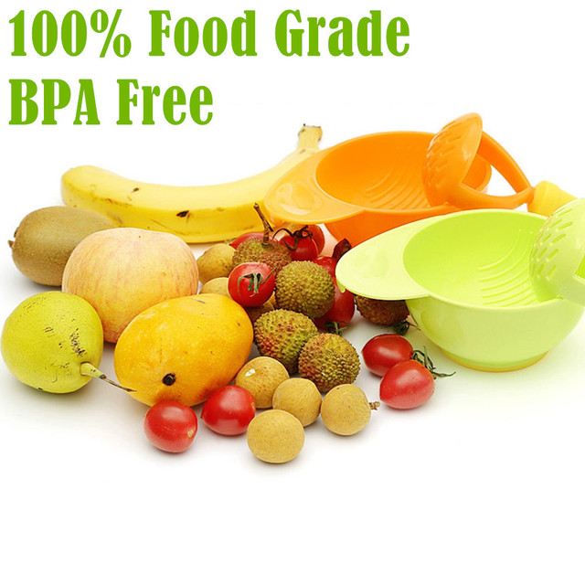 BPA Free! 100% Food Grade Toddler Fruit Food Grinder Bowl of Baby Food Maker Baby Food Manual Grinder Mill
