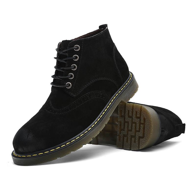 69d89c4a6848 Brogues Mens Working Safety Boots Big Size 38-47 Handsome ...