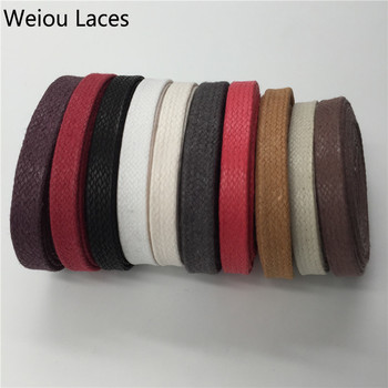 (3 Pairs/Lot)Weiou High Quality Waxed Cotton Flat Shoelaces Lacing Cord Wax Thin For Boots Leather Casual Shoes