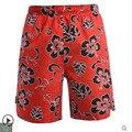 Hot Sale Mens Hawaiian Print Beach Shorts Casual Large Size Swimming Flower Board Shorts Fashion Male Boardshorts S/2Xl J511