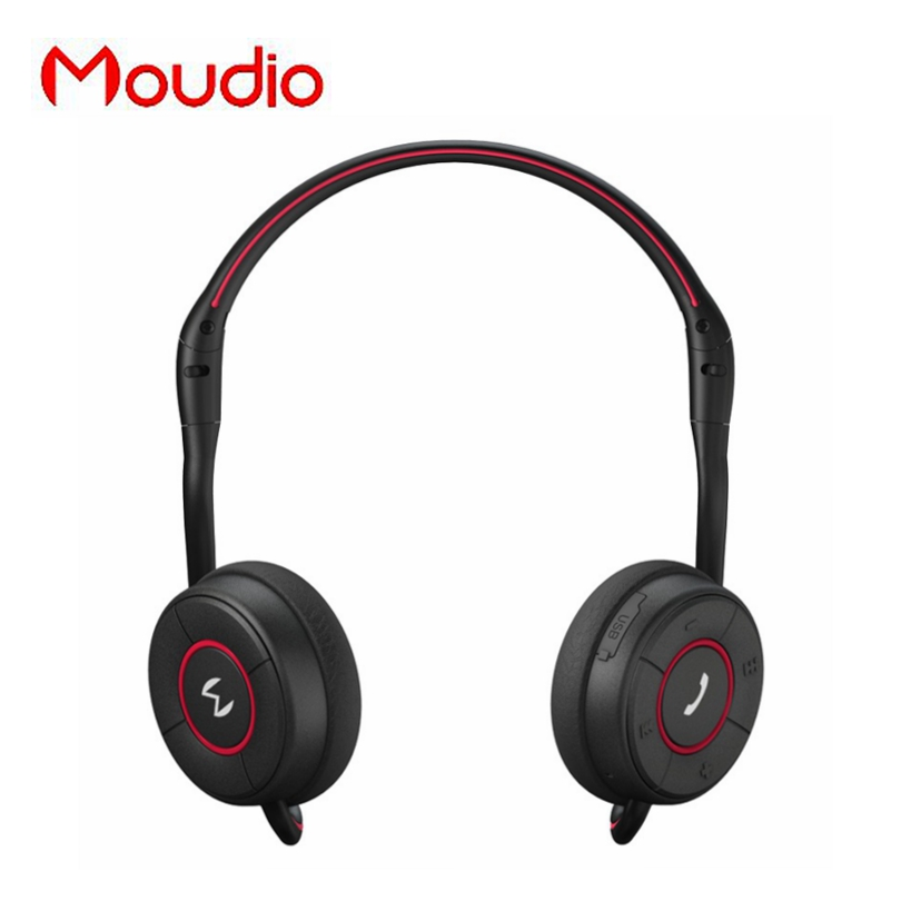 купить Moudio M100 Sports Wireless Over Ear Earphones Bluetooth Jogger Running Headphones With Hidden Microphone For Apple Andorid недорого