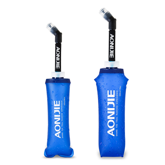 AONIJIE 170/250/500ml TPU Outdoor Sport Bottle Soft Flask Hiking Running Fitness Bicycle Tactical Canteen Water Kettle Jug