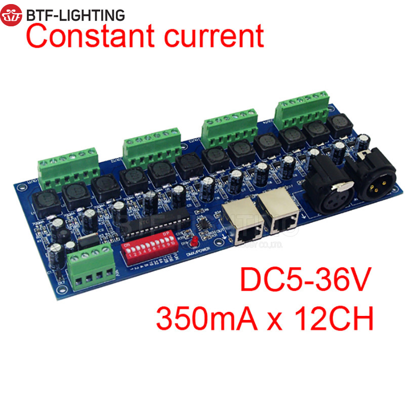 DMX Constant Current (independent) 3CH, 4CH, 12 Channel Dmx512 Decoder, DMX LED Controller, 350MA/700MA