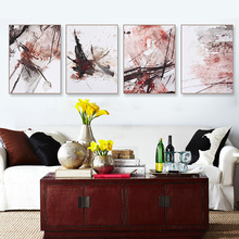 Modern Abstract Art Pink Ink Splash Poster Print Canvas Painting Picture Home Bedroom Wall Graffiti Decoration Custom