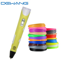 Dewang Diy Magic 3d Printing Pen for Birthday Gifts Kids ABS PLA Filament Drawing Painting Boligrafos Creativo Stylo