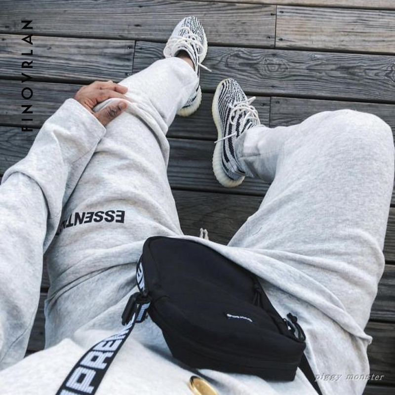 2019 Kanye West Hip Hop Style Full Length Jogging Pants  Sweatpants For Men Elastic Waist Mens Streetwear SweatPants