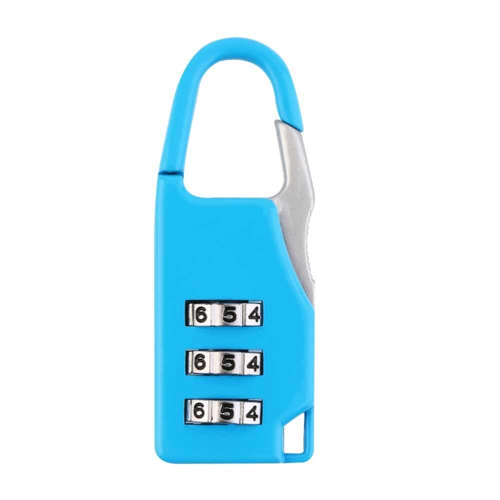 New arrival 1 szt. Bezpieczeństwo 3 kombinacja walizka podróżna torba na bagaż zamek szyfrowy zamek kłódka hot