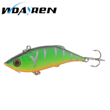 1Pcs Crankbait VIB 8cm 9.7g Wobblers Hard Fishing Tackle Swim bait Crank Bait Bass Fishing Lures 8 Colors pike perch FA-262