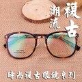 Corea marcos de los vidrios TR90 gafas de montura redonda de lujo claro vidrios ópticos gafas hombres gafas marcos para anteojos mujeres 9128