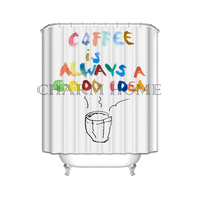 CHARMHOME Custom Colorful Words With Caffee Is Alway A Good Idea Special Shower Curtain High Quality